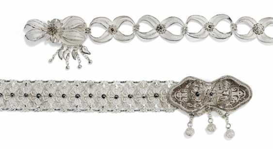 Two filigree silver belt - photo 2
