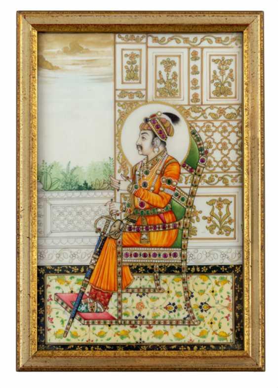 Precious miniature of an Indian ruler - photo 1