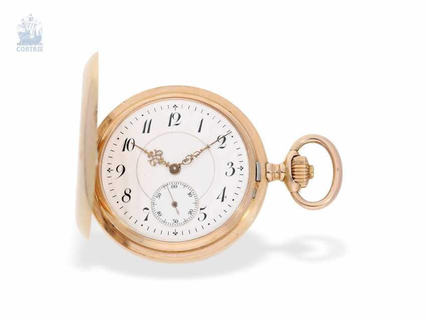 Pocket watch: fine red-gold Savonnette, Union Dürrstein, CA, 1900 - photo 1