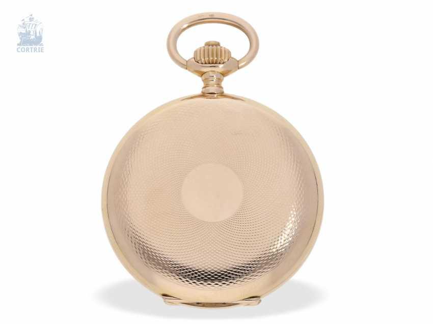 Pocket watch: fine red-gold Savonnette, Union Dürrstein, CA, 1900 - photo 2