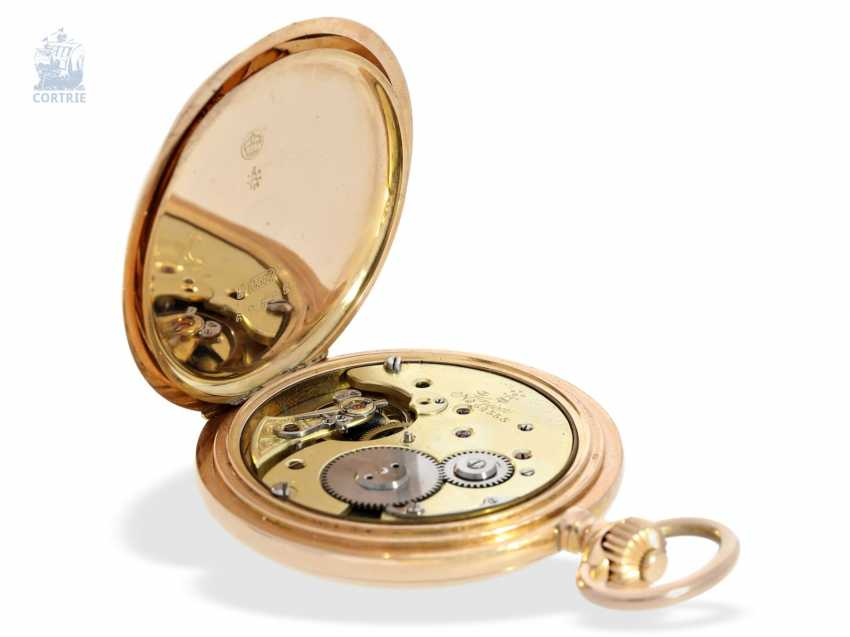 Pocket watch: fine red-gold Savonnette, Union Dürrstein, CA, 1900 - photo 3