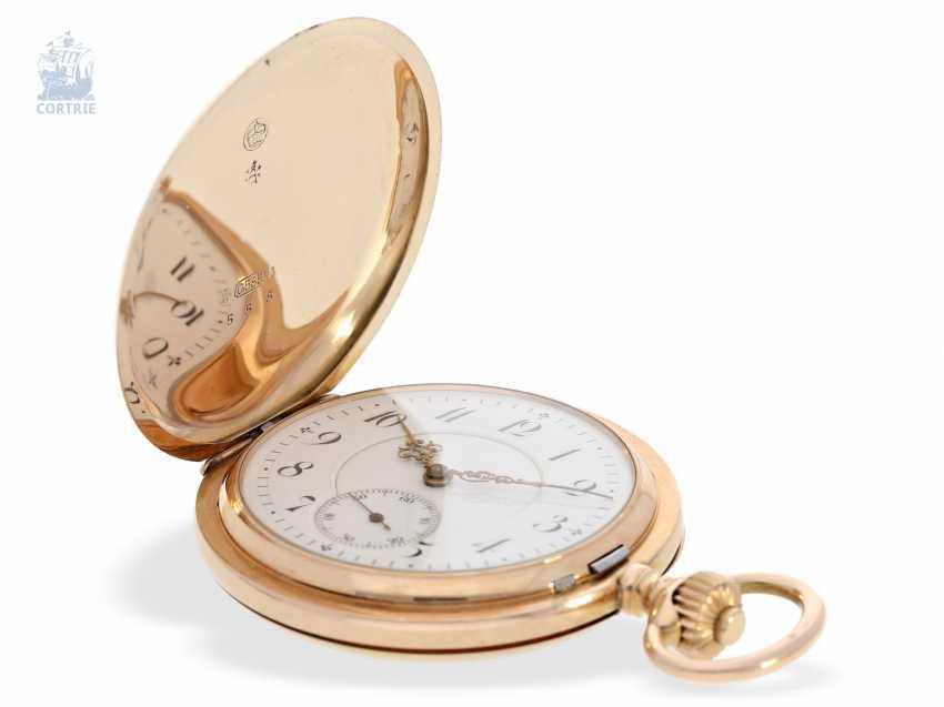 Pocket watch: fine red-gold Savonnette, Union Dürrstein, CA, 1900 - photo 5