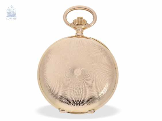Pocket watch: fine red-gold Savonnette, Union Dürrstein, CA, 1900 - photo 6