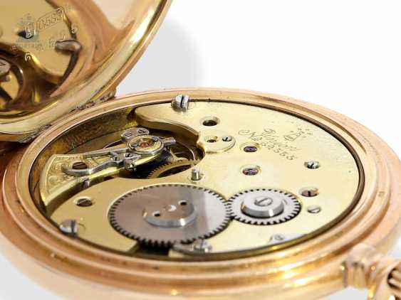 Pocket watch: fine red-gold Savonnette, Union Dürrstein, CA, 1900 - photo 7