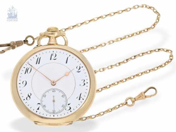 Pocket watch: German precision watch with Golden watch chain, Anchor chronometer W. Bröcking Hamburg, precision watchmaking of the Deutsche Seewarte of Hamburg, CA. 1910 - photo 1