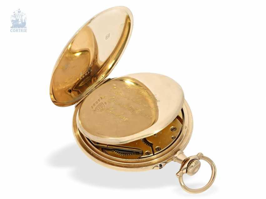 Pocket watch: German precision watch with Golden watch chain, Anchor chronometer W. Bröcking Hamburg, precision watchmaking of the Deutsche Seewarte of Hamburg, CA. 1910 - photo 2