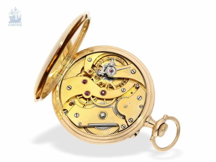 Pocket watch: German precision watch with Golden watch chain, Anchor chronometer W. Bröcking Hamburg, precision watchmaking of the Deutsche Seewarte of Hamburg, CA. 1910 - photo 3