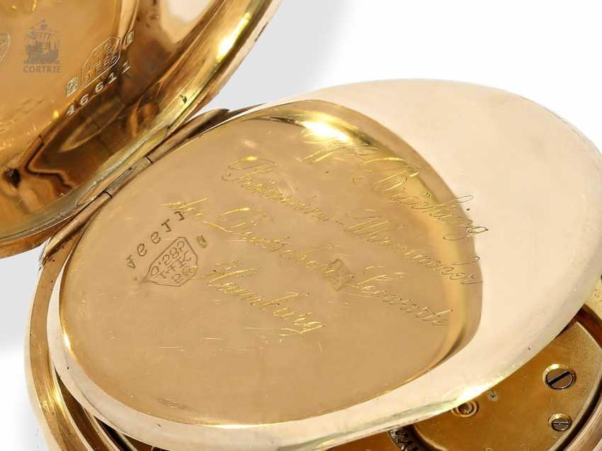 Pocket watch: German precision watch with Golden watch chain, Anchor chronometer W. Bröcking Hamburg, precision watchmaking of the Deutsche Seewarte of Hamburg, CA. 1910 - photo 5