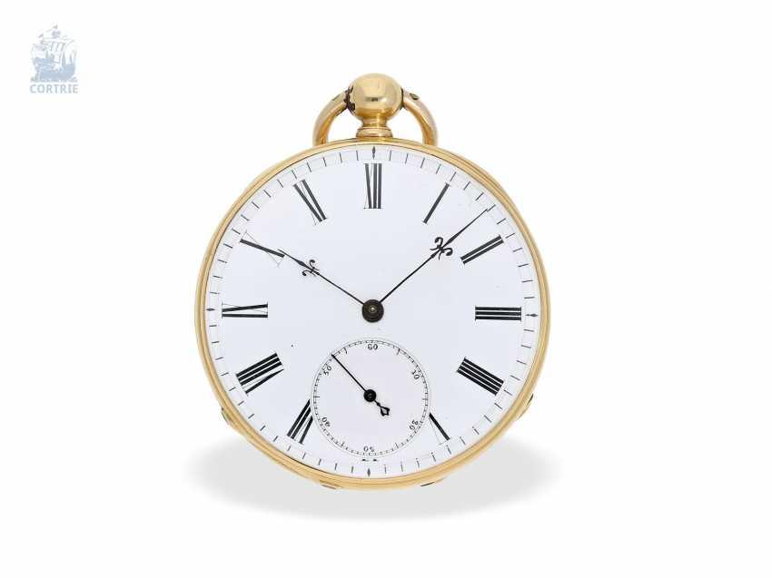 Pocket watch: interesting and unusual Swedish Chronometer, J. W. Grönbäck, Stockholm No. 8605, experimental work, approx. 1850/60 - photo 5