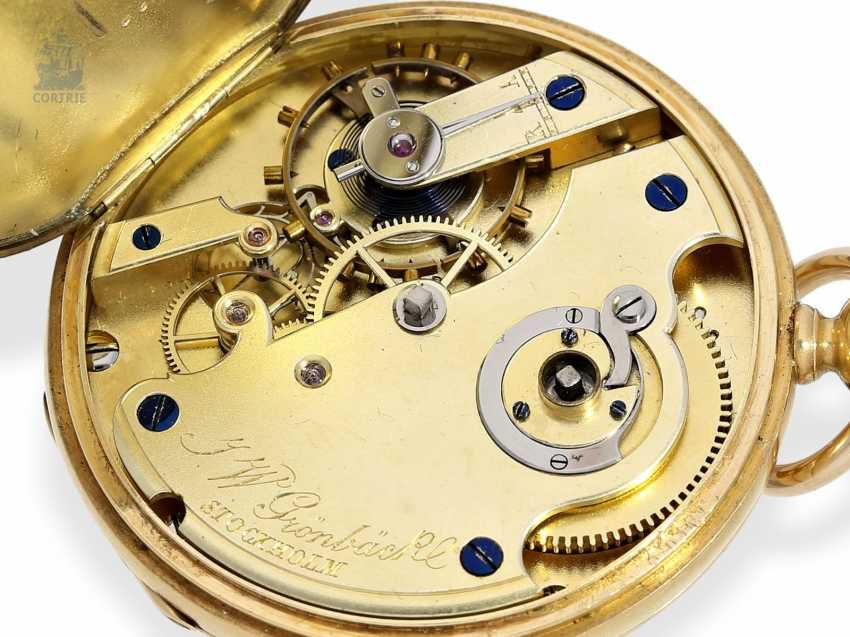 Pocket watch: interesting and unusual Swedish Chronometer, J. W. Grönbäck, Stockholm No. 8605, experimental work, approx. 1850/60 - photo 6