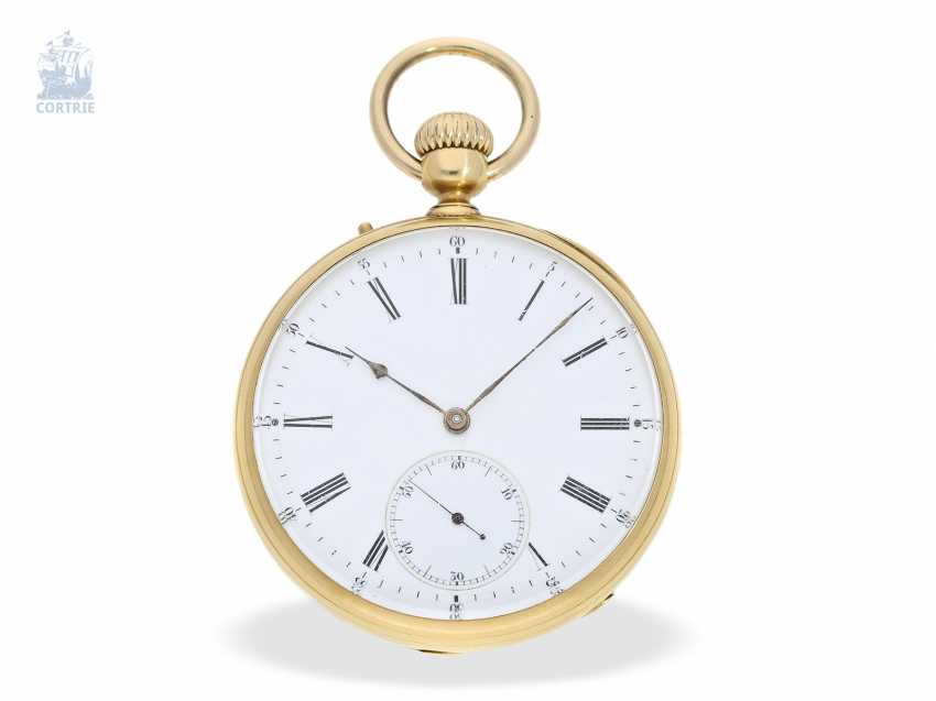 Pocket watch: early, high, fine Anchor chronometer, and by 1860, Lepine Palais Royal, Paris, No. 16287 - photo 1