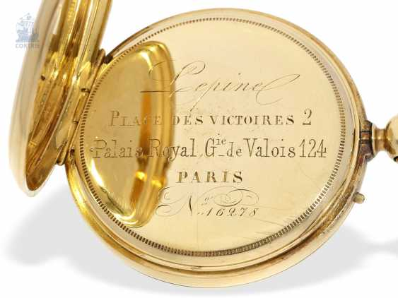 Pocket watch: early, high, fine Anchor chronometer, and by 1860, Lepine Palais Royal, Paris, No. 16287 - photo 3