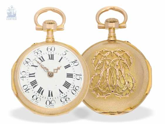 Pocket watch/Anhängeuhr: very rare and extraordinary watch in the Louis XVI style, signed Breguet No. 3555, CA. 1875 - photo 1