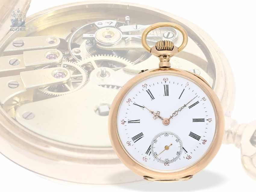 Pocket watch: Golden-red Observatory Chronometer, very rare calibre, signed VJR & F, probably around 1885 - photo 1
