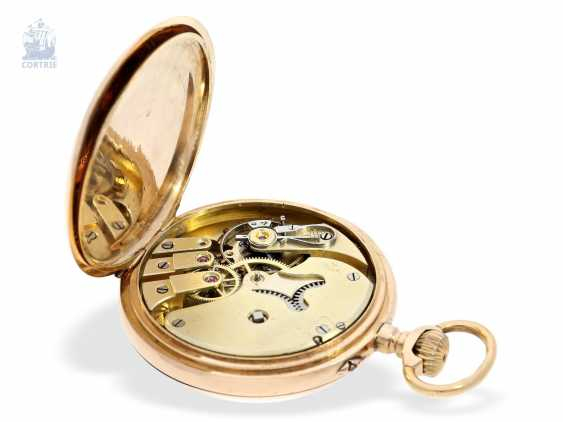 Pocket watch: Golden-red Observatory Chronometer, very rare calibre, signed VJR & F, probably around 1885 - photo 2