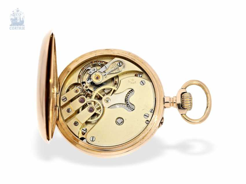 Pocket watch: Golden-red Observatory Chronometer, very rare calibre, signed VJR & F, probably around 1885 - photo 6