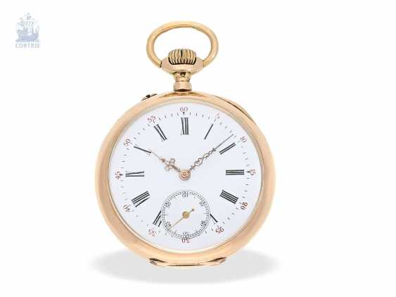 Pocket watch: Golden-red Observatory Chronometer, very rare calibre, signed VJR & F, probably around 1885 - photo 7
