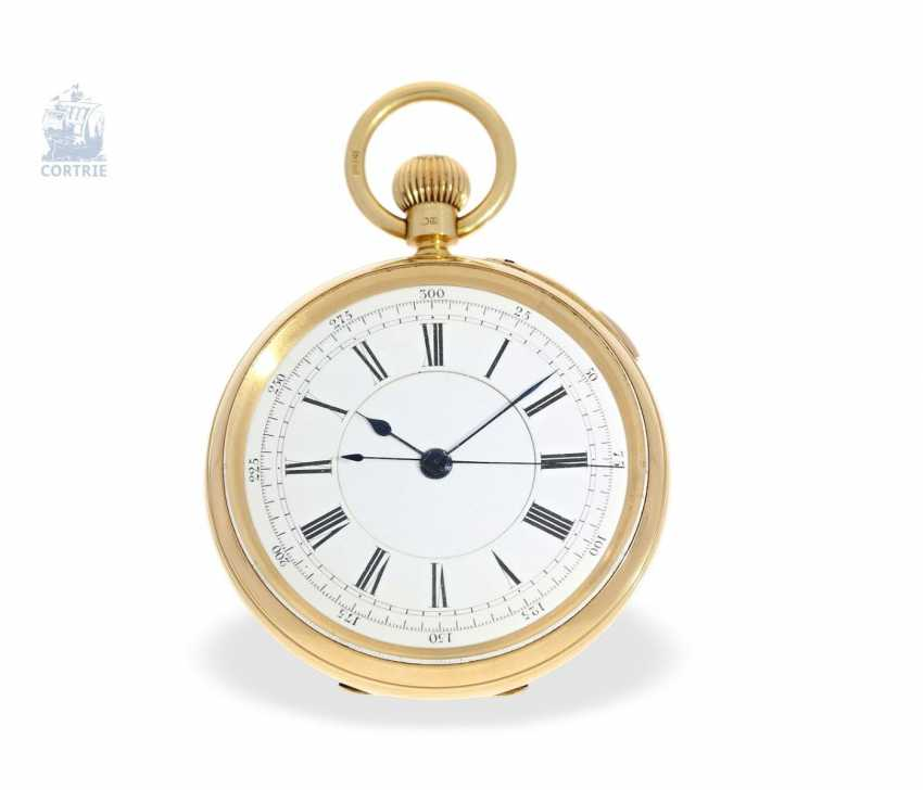 Pocket watch: heavy English Watch, with anhaltbarer Central second, chronometer maker to the Royal Observatory London, Sir John Bennett, No. 11348, London 1894 - photo 1