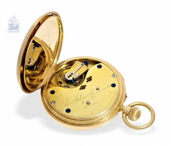 Pocket watch: heavy English Watch, with anhaltbarer Central second, chronometer maker to the Royal Observatory London, Sir John Bennett, No. 11348, London 1894 - photo 4