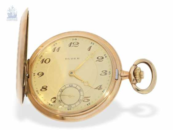 Pocket watch: interesting mixed lot of 4 gold pocket watches, including a heavy IWC gold savonnette of 1895 - photo 1