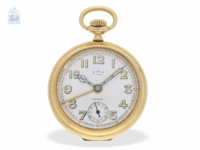 Pocket watch: interesting mixed lot of 4 gold pocket watches, including a heavy IWC gold savonnette of 1895 - photo 2