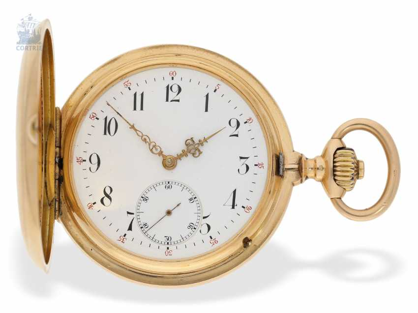 Pocket watch: interesting mixed lot of 4 gold pocket watches, including a heavy IWC gold savonnette of 1895 - photo 6