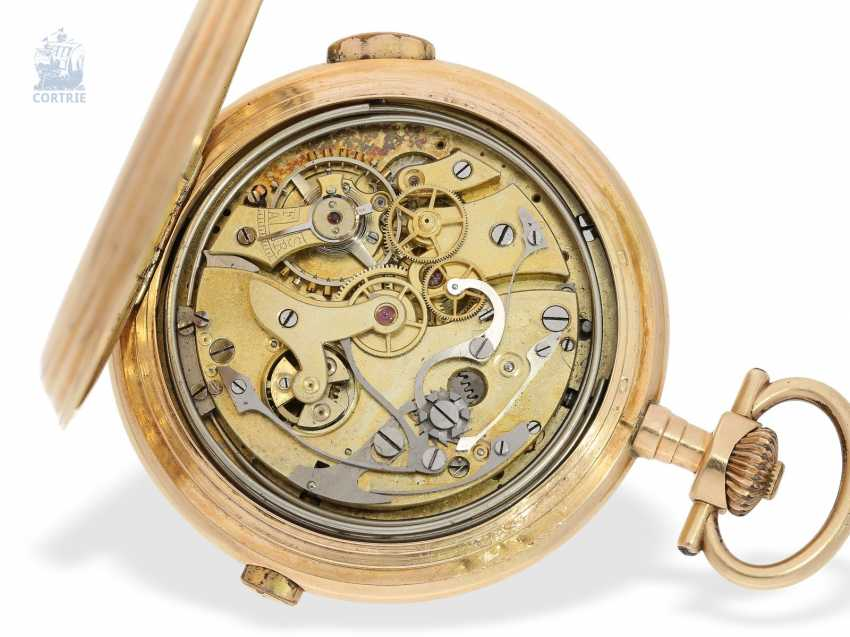 Pocket watch: interesting mixed lot of 4 gold pocket watches, including a heavy IWC gold savonnette of 1895 - photo 7