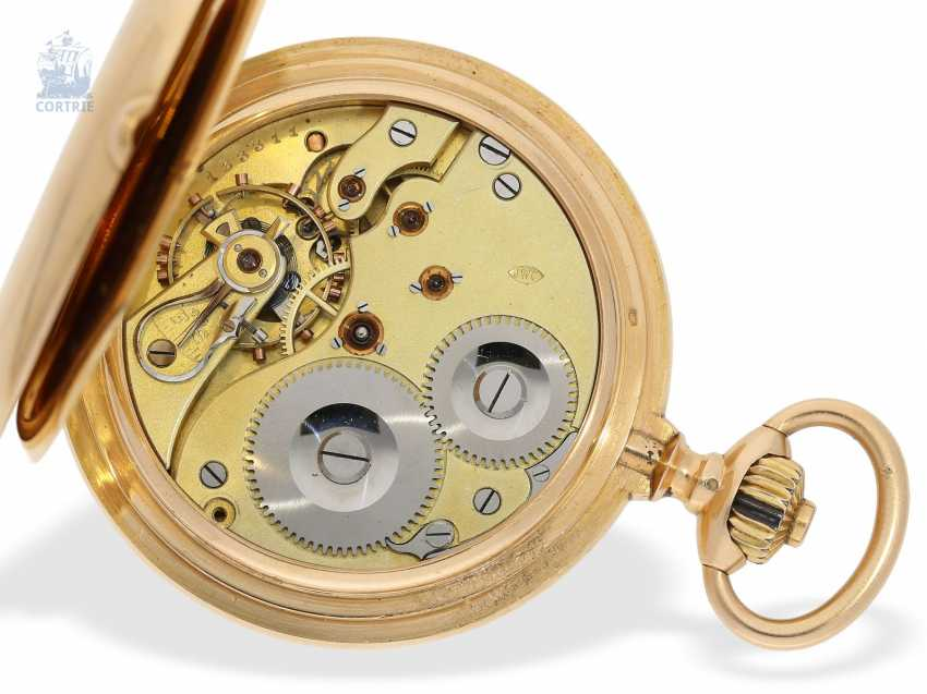 Pocket watch: interesting mixed lot of 4 gold pocket watches, including a heavy IWC gold savonnette of 1895 - photo 9