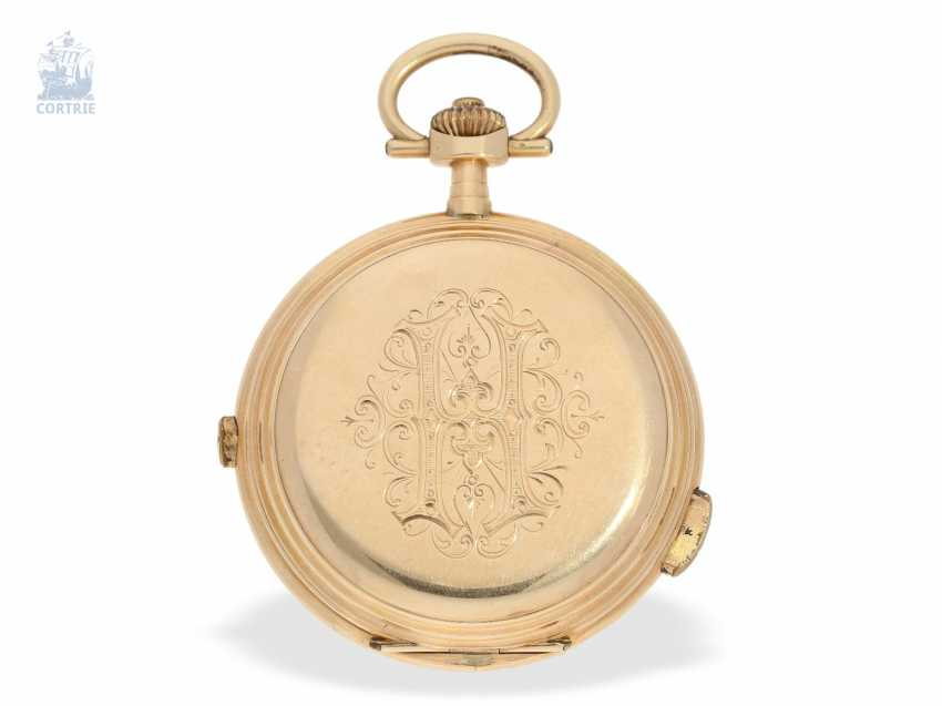 Pocket watch: interesting mixed lot of 4 gold pocket watches, including a heavy IWC gold savonnette of 1895 - photo 10