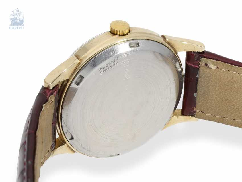 """Watch: rare Omega men's watch with sector Dial, 1. Generation of the """"GLOBEMASTER"""", gold filled, built in 1959 - photo 3"""