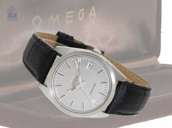Watch: extra-large Omega men's watch in stainless steel, Seamaster Chronometer 168.022 from 1967 with original box and certificate - photo 1