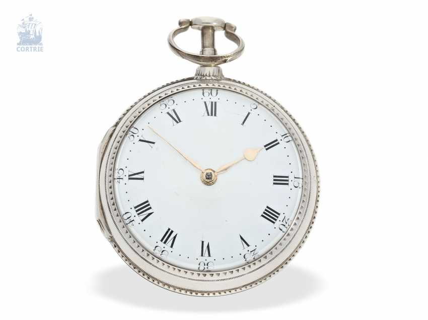 Pocket watch: interesting, early English Cylinder watch of very fine quality, Hallmarks London in 1787, John crowd hill London No. 999 - photo 1