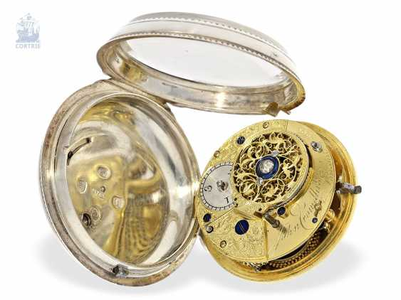 Pocket watch: interesting, early English Cylinder watch of very fine quality, Hallmarks London in 1787, John crowd hill London No. 999 - photo 2