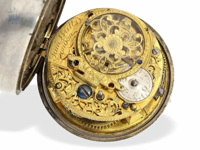 Pocket watch: interesting early English double case-Spindeluhr with rare enamel paintings, James Watts, London, 1703-CA. 1740 - photo 3