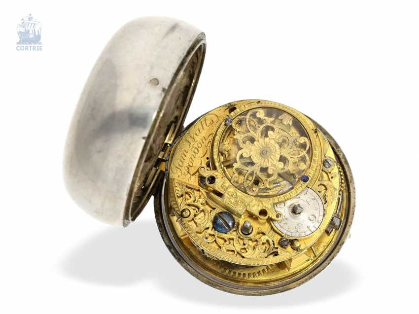 Pocket watch: interesting early English double case-Spindeluhr with rare enamel paintings, James Watts, London, 1703-CA. 1740 - photo 6