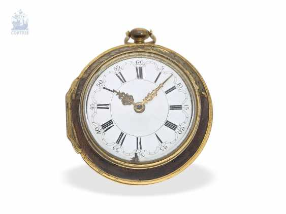 Pocket watch: early English Spindeluhr, around 1700, one of the most important London watchmaker of this time, Henry Jones 1654-1695/1698 - photo 3