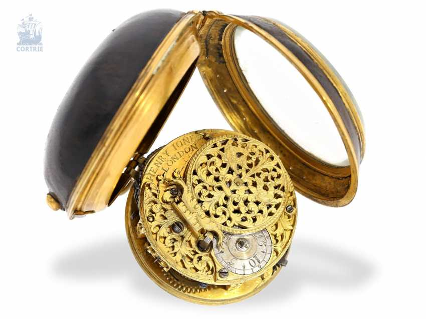 Pocket watch: early English Spindeluhr, around 1700, one of the most important London watchmaker of this time, Henry Jones 1654-1695/1698 - photo 4