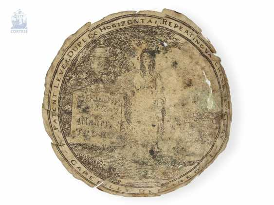 Pocket watch: early English double case-Spindeluhr, in 1740, Richard Wilson, London, no. 2291 - photo 3