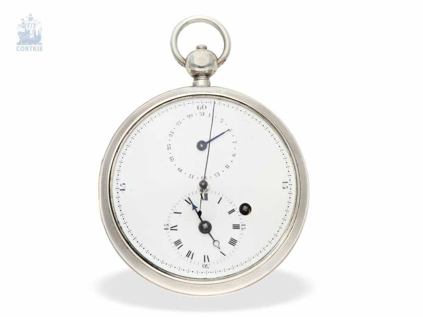 Pocket watch: large, technically interesting French Watch, with anhaltbarer Central second, date, as well as an unusual variant of the comma inhibition, Henry a Paris, No. 1791. 1790 - photo 1