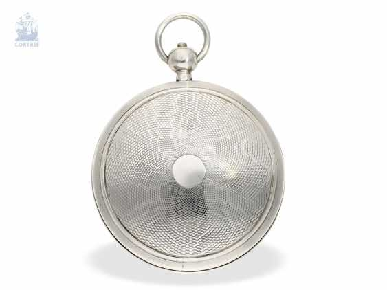 Pocket watch: large, technically interesting French Watch, with anhaltbarer Central second, date, as well as an unusual variant of the comma inhibition, Henry a Paris, No. 1791. 1790 - photo 3