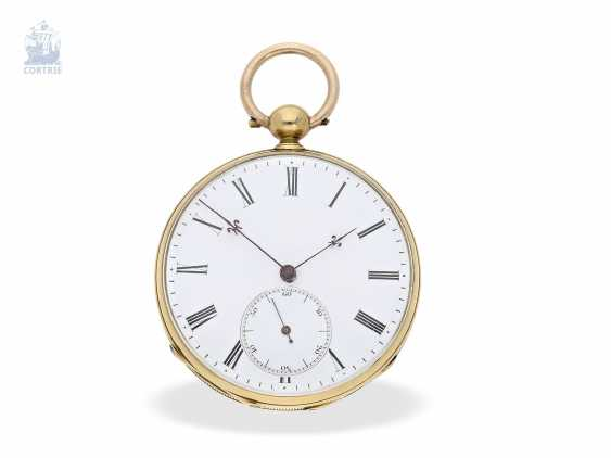 Pocket watch: early, fine Lepine with chronometer escapement, Switzerland, around 1850 - photo 1