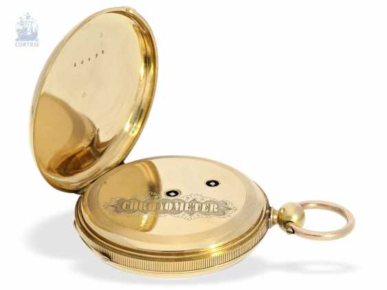 Pocket watch: early, fine Lepine with chronometer escapement, Switzerland, around 1850 - photo 3
