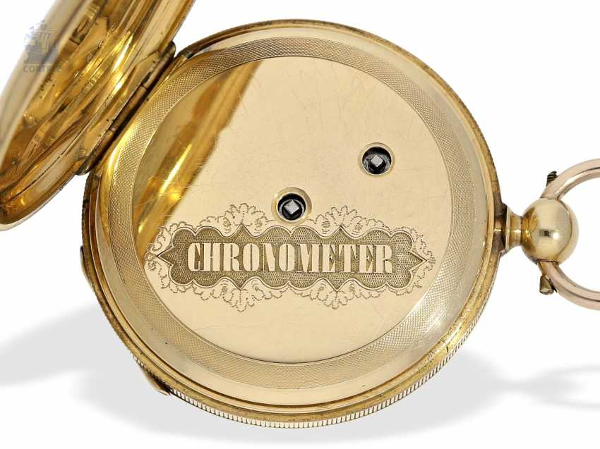 Pocket watch: early, fine Lepine with chronometer escapement, Switzerland, around 1850 - photo 5