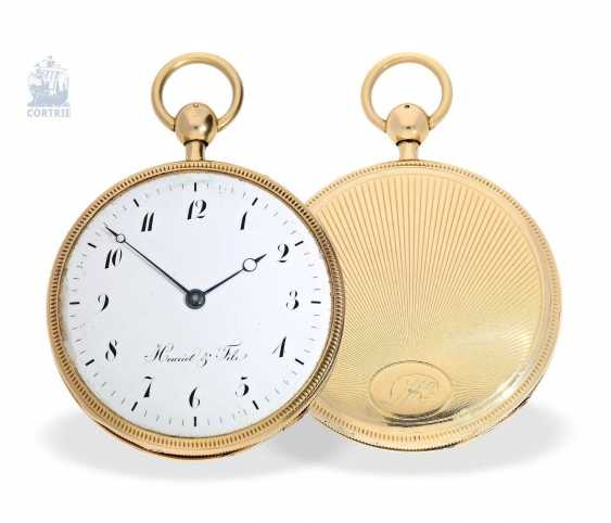 Pocket watch: very fine, large pocket watch with a repeater, 18K Gold, master watchmaker: Houriet & Fils No. 8110, around 1810 - photo 1