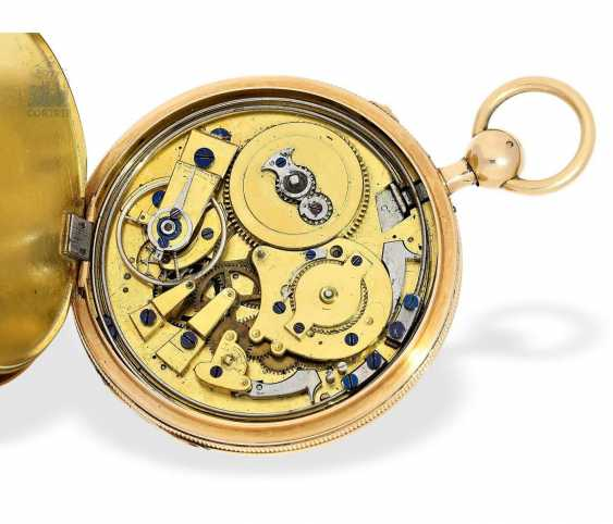 Pocket watch: very fine, large pocket watch with a repeater, 18K Gold, master watchmaker: Houriet & Fils No. 8110, around 1810 - photo 2