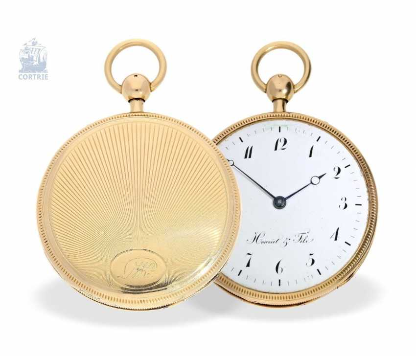 Pocket watch: very fine, large pocket watch with a repeater, 18K Gold, master watchmaker: Houriet & Fils No. 8110, around 1810 - photo 4