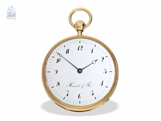 Pocket watch: very fine, large pocket watch with a repeater, 18K Gold, master watchmaker: Houriet & Fils No. 8110, around 1810 - photo 5