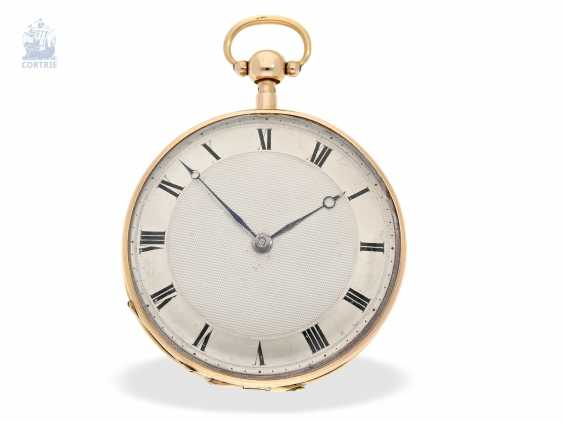 Pocket watch: fine, large French Cylinder watch with Repetition, Charles Oudin, Elève de Breguet, 52 Palais Royal, Paris, No. 5101, CA. 1815 - photo 1