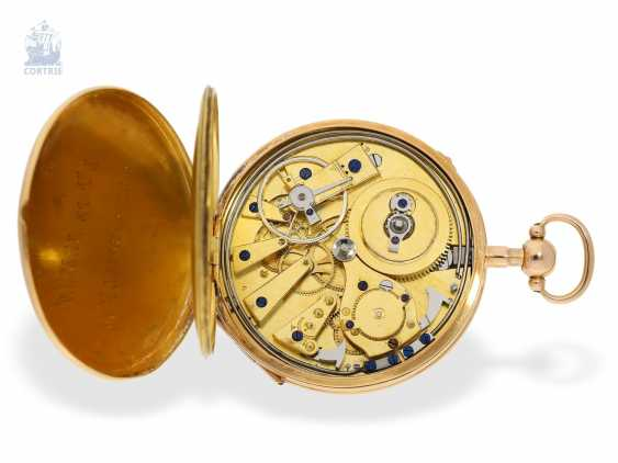 Pocket watch: fine, large French Cylinder watch with Repetition, Charles Oudin, Elève de Breguet, 52 Palais Royal, Paris, No. 5101, CA. 1815 - photo 2