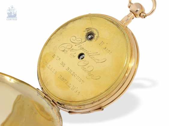 Pocket watch: fine, large French Cylinder watch with Repetition, Charles Oudin, Elève de Breguet, 52 Palais Royal, Paris, No. 5101, CA. 1815 - photo 4